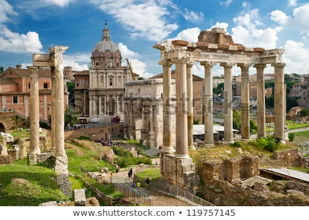 The Roman Forum, Italian Foro Romano in Rome, Italy Stock photo © photocreo