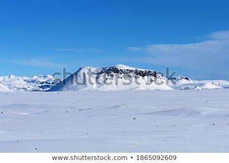 Tél út kék ég üres égbolt természet Stock fotó © CaptureLight