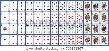 vecteur · six · cartes · propre · cartes · à · jouer - photo stock © bluering