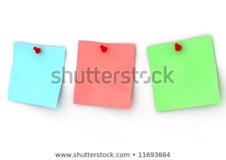 три стандартный лист прилагается 3D изображение Сток-фото © ISerg