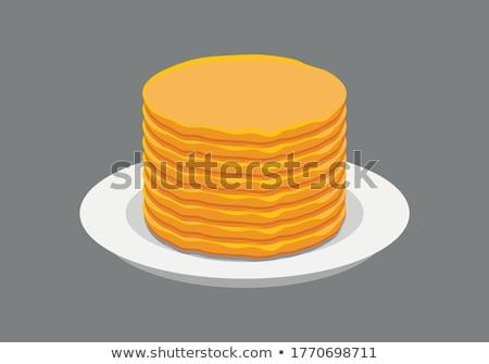 Crêpe voedsel koken dessert bakkerij Stockfoto © M-studio