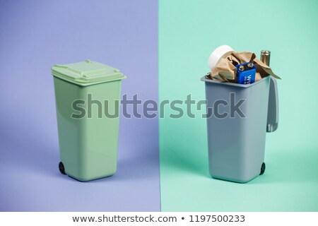 Hulladék tároló illusztráció háttér művészet üveg Stock fotó © bluering