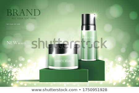 Stock photo: clean green bokeh background design illustration