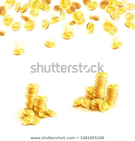Terv kaszinó 10 zöld siker póker Stock fotó © sdCrea