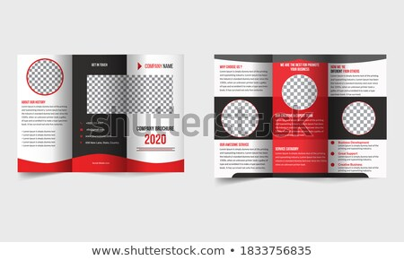 чистой журнала охватывать бизнеса листовка шаблон Сток-фото © SArts