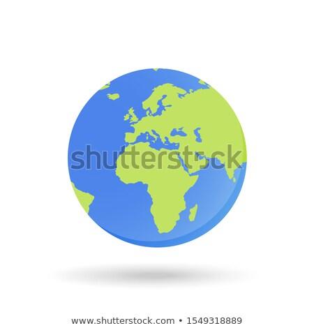 太陽系 · アイコン · デザイン · スタイル · 地球 · 惑星 - ストックフォト © biv