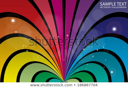 Stock photo: Multicolored warm stripes abstract background.