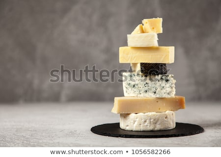 Választék sajt fa háttér kenyér reggeli Stock fotó © M-studio
