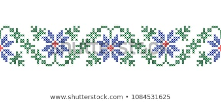 Cross Stitch Embroidery design for seamless pattern texture Stock photo © vectomart