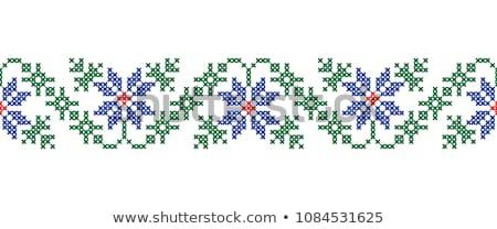 dekoratív · kisebbségi · szeretet · szív · minta · vektor - stock fotó © vectomart