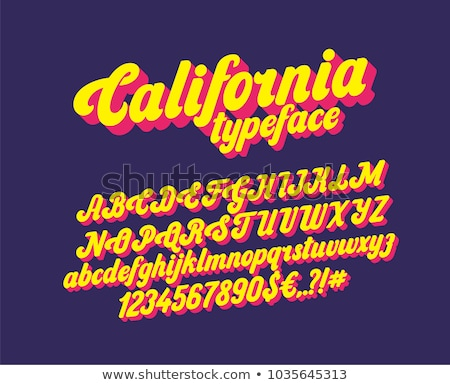Font design for english alphabets in yellow Stock photo © bluering