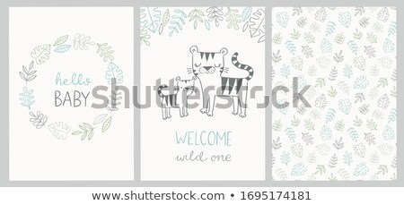 Banner design with wild tiger Stock photo © bluering