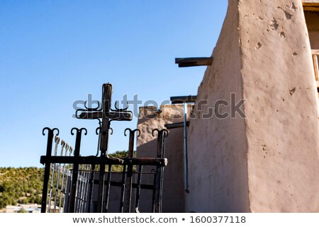 old crosses desert outside taos new mexico usa stock photo © qingwa