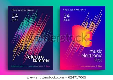 Zene színes buli esemény szórólap sablon Stock fotó © SArts