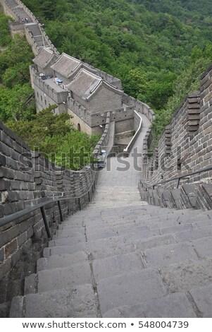 restored steps mutianyu great wall beijing china stock photo © qingwa