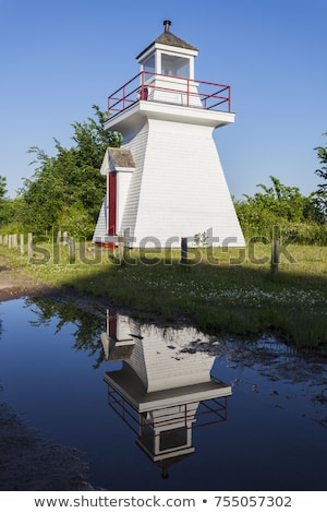 Borden Wharf Lighthouse in the Bay of Fundy Stock photo © benkrut
