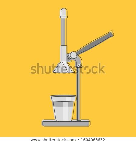 manual juicer icon Stock photo © cienpies