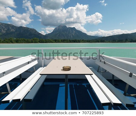 Vazio tabela balsa lago natureza viajar Foto stock © IS2