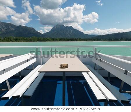 Vacío mesa transbordador lago naturaleza viaje Foto stock © IS2