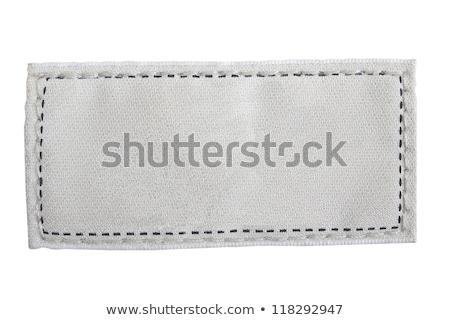 Stockfoto: Blue Clothing Label