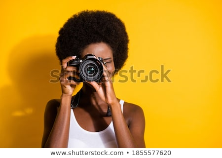 Woman with digital camera Stock photo © IS2