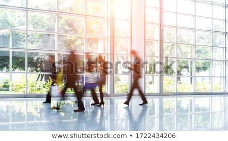 Uruchomiony lobby działalności kobieta piętrze Zdjęcia stock © IS2