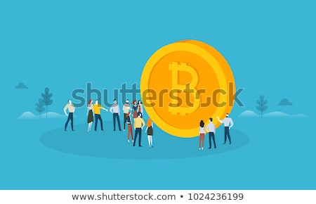 Bitcoin and Blockchain Crypto Protection Technology Icons. Stock photo © WaD