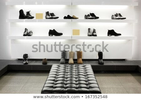 tablettes · magasin · magasin · isolé · blanche · 3D - photo stock © vlad_star