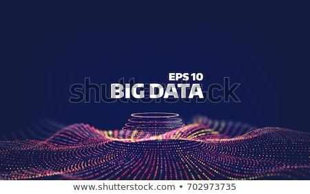 Színes absztrakt részecskék hálózat fekete Stock fotó © SArts