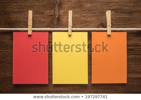 одежды · линия · заметка · разместить · его · отмечает · изолированный - Сток-фото © kitch