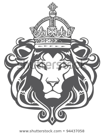 lion heraldic symbol leo sign animal for coat of arms vector i stock photo © maryvalery