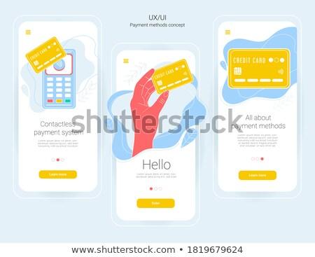 Plastic geld app interface sjabloon Stockfoto © RAStudio
