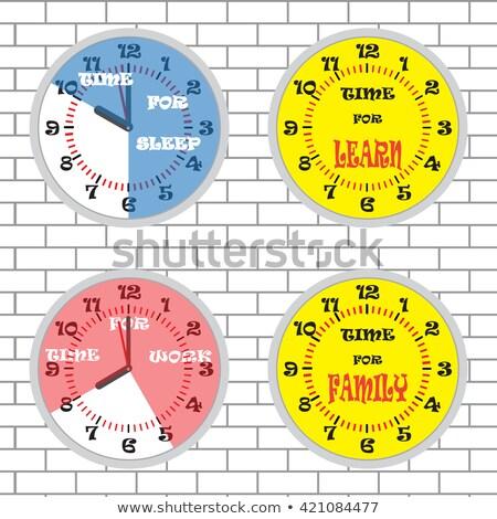 time to learn on the brick wall stock photo © tashatuvango
