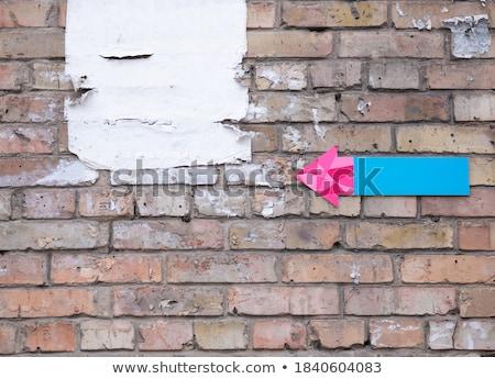 blue torn paper brickwork background Stock photo © romvo