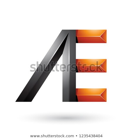 Black and Orange Pyramid Like Dual Letters of A and E Vector Ill Stock photo © cidepix