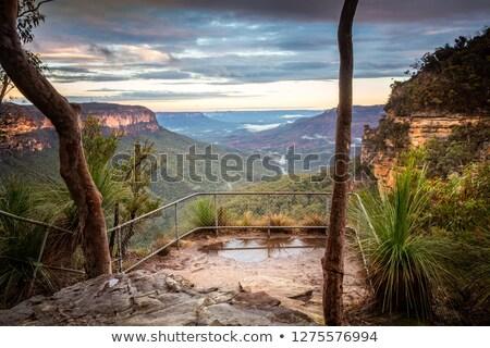 Austrália cachoeira enseada cidade azul montanhas Foto stock © lovleah