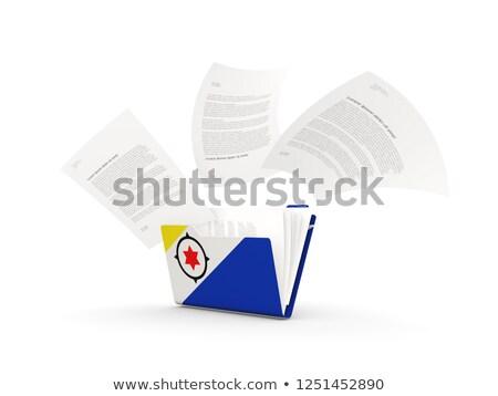 Folder with flag of bonaire Stock photo © MikhailMishchenko