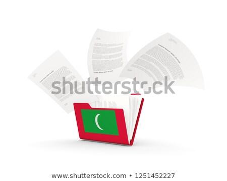 флаг · Мальдивы · флагшток · 3d · визуализации · изолированный · белый - Сток-фото © mikhailmishchenko