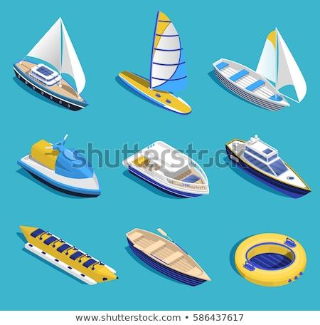 Víz szállítás banán csónak jet ski vektor Stock fotó © robuart