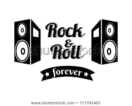 永遠 孤立した 白 色 ポスター ギター ストックフォト © robuart