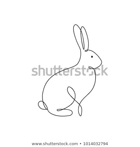 ウサギ ベクトル シンボル 行 実例 アイコン ストックフォト © blaskorizov