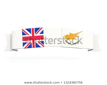 Banner with two square flags of United Kingdom and cyprus Stock photo © MikhailMishchenko