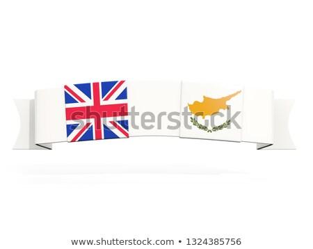Szalag kettő tér zászlók Egyesült Királyság Ciprus Stock fotó © MikhailMishchenko