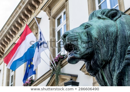 House with flag of luxembourg Stock photo © MikhailMishchenko