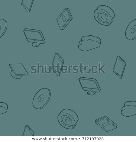 education outline isometric pattern stock photo © netkov1
