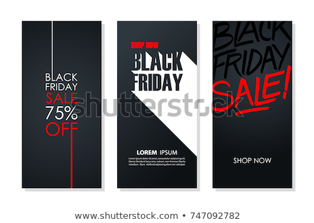 Black Friday Special Sale Promotions Discounts Set Stock photo © robuart