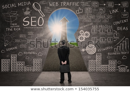 SEO Search engine optimization target with arrows 3D Stock photo © djmilic