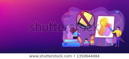 Bajo tecnología crianza de los hijos banner minúsculo Foto stock © RAStudio
