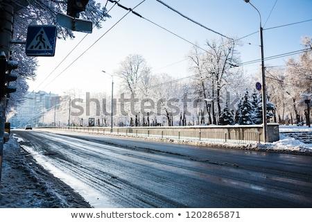 estrada · cidade · ilustração · urbano · cidade · scape · céu - foto stock © colematt