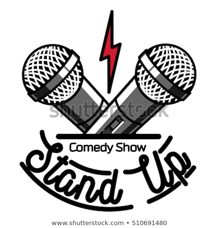 Color vintage Stand up comedy show emblem Сток-фото © netkov1